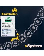 Kettenschmiersystem Scottoiler vSystem, für BMW F700GS / F800GS, ab 2017