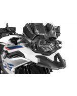Scheinwerferschutz Edelstahl schwarz mit Schnellverschluss für BMW F850GS / F750GS *OFFROAD USE ONLY*