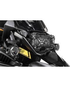 Scheinwerferschutz schwarz, mit Schnellverschluss für LED Hauptscheinwerfer für BMW R1250GS/ R1250GS Adventure *OFFROAD USE ONLY*