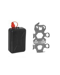 ZEGA Pro2 Zubehörhalterset, Kanisterhalter inkl. Ölkanister Touratech 2 Liter