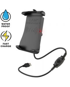 RAM Mount induktive Quick-Grip Smartphone-Halterung mit Einhand-Federauszug
