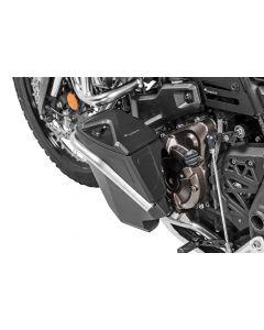 Werkzeugbox mit Motorsturzbügel - Nachrüstsatz - linke Seite, Edelstahl für Yamaha Tenere 700