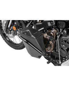 Werkzeugbox mit Motorsturzbügel - Nachrüstsatz - linke Seite, Edelstahl, schwarz für Yamaha Tenere 700